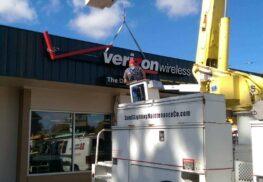 Verizon Sign Installation