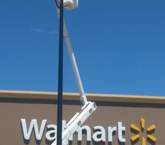 Walmart Parking Lot Light Repair