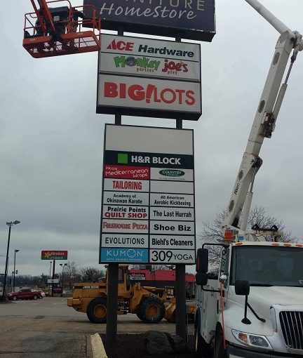 ashley furniture sign face installation welcome to s s signs