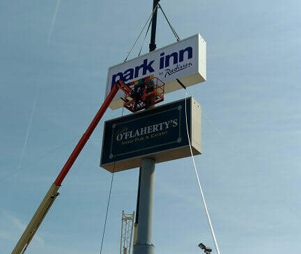 Park Inn Sign Installation