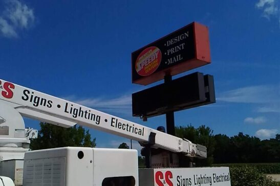 American Speedy Printing LED Sign Installation